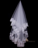 2014 Bride 1.5 meters lace decoration veil wedding dress veil