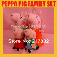 4pcs/lot Pepe/Pepa/Pepper/ Pink Peppa pig George Pig family PlushToy ,Peppa Pig Familia hold Teddy Stuffed Animals Plush Dolls