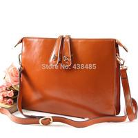 2014 summer Casual Envelope Bag Famous Brand Style Black Cowhide Women Genuine Leathe Shoulder Bag Messenger Bag MBM204