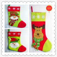 Christmas quality socks onta snowman Large socks gift bag socks gift candy bag