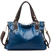 2014 Women Leather Handbags Designer Handbags High Quality Cross Body Bags Black Free Shipping B-295