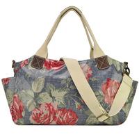 Free Shipping New 2014 Women Print Floral Handbag Brand Design Shoulder Bag morer #649