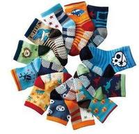 24pairs/lot mixed (12 color) lovely cartoon dinosaur skull baby kid sock children boy socks