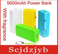 20set/lot Universal 5600mAh USB External Backup Battery Power Bank + 4 in 1 Micro usb cable Retail box Perfume 2th free fedex