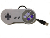 Free shipping snes Controller  snes USB Controller for PC snes Gamepad (poly bag) brand new gray