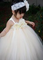 Flower Girl Dress 2t-8y Floor-Length Flower Girl Tutu Dress For Wedding/Birthday Flower Girl Party Dress Custom Size
