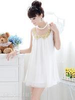 White with gold sequin collar girl summer chiffon casual korea mini short dress for pregnant women, princess sundresses clothes