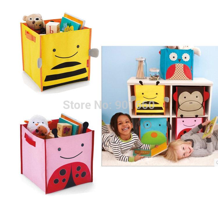 SH Cute Animal Baby Child Nursery Bedroom Laundry Tidy Toy Storage Bag Basket(China (Mainland))