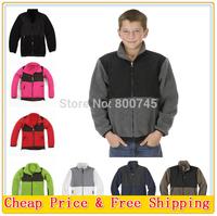 Free Shipping 2014 Fashion Kids Boys and Girls Denali Fleece Jacket Outdoor Sports Brand Children Slim Denali Fleece Coats S-XXL