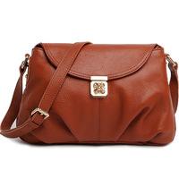 Fashion Plum Lock Design Women leather Handbags Genuine Leather Shoulder Bag/Crossbody Bag Clutch Bag  M8889