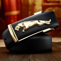 2014 Free shipping Men's fashion cowhide genuine leather brief belt male strap mens belt Ceinture Buckle birday gift D-Z4