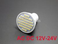 2X   GU10 3W LED 60 SMD 3528 WARM WHITE 3000K 6000K AC DC 12V 24V Spotlight bulb lamp