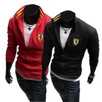 Men's Baseball Hoody Jacket Winter New printed men's casual sports jacket 2 colors