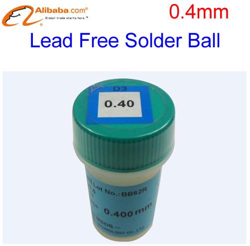 Free shipping! Lead free BGA solder Balls 250K 0.4mm For bga repair,bga reballing kit,bga solder ball(China (Mainland))