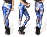 HOT! SEXY!  Free Shipping 2013 Fashion STAR WARS MONTAGE LEGGINGS Galaxy Milk Supernova Sale Women Digital Printed Pants