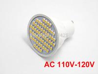 2X  GU10 Warm White/Pure White  LED Bulb Lamp Spotlight 3528 SMD 60 LED AC 110V-120V