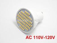 5X   AC 110V-120V GU10 Warm White/Pure White  LED Bulb Lamp Spotlight 3528 SMD 60 LED