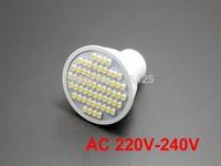 10X  GU10 3528 SMD 60 LED 3W Warm White High Power Spot Light Lamp Bulb AC 220V-240V