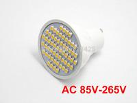 2X  GU10 3528 SMD 60 LED 3W Warm White High Power Spot Light Lamp Bulb AC 85V-265V