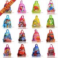 Free express shpping!100pcs Child Cartoon Backpack Bags<kids school bags< kids backpacks<printing backpack,34*27cm