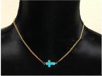 Religious sideways Cross Chain Necklace   Sideways Cross Necklace, Faith Cross Necklace Religious Necklace   for women 2014