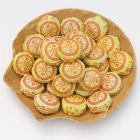 2014 Limited Promotion 1 - 2 Years Bag Qs 180 Grams of Free Shipping Chinese Tea Pu 'er Honeysuckle Mini Tuoripe(ripe Tea)