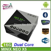 MINIX NEO X5 RK3066 Dual Core1GB RAM16GB ROM 1.6GHz Android 4.1 XBMC WIFI USB RJ45 HDMI Google Smart TV Box Media Player
