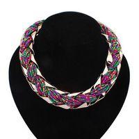 Europe Vintage Temperament Metal Beads Bohemia Charming Bib Statement Necklace Fashion Jewelry For Women 2014 PD24