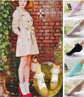 Fashion Women Vintage Lace Ruffle Frilly Ankle Socks Lady Princess Girl Favorite Free Shipping