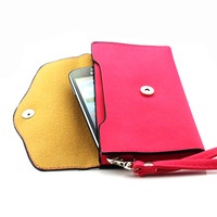 Luxury retro color flip phone bags wallet leather wallet for Samsung Galaxy Core i8260 i8262 Free Shipping