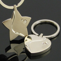 Free shipping Set auger couple key chain Christmas