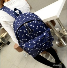 New 2014 Lovely fashion canvas backpack  student school stars bag style vintage casual  preppy style school  backpack wholesale(China (Mainland))