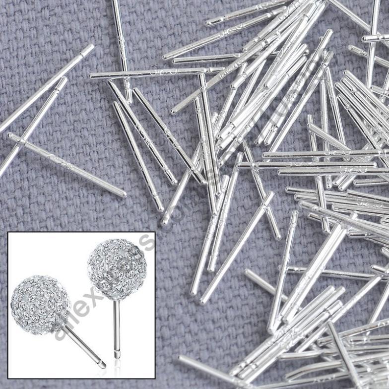 bulk 1000 stück pin solide echten 925 sterling silber schmuckzubehör feines Ohr stud pin Beiträge handgefertigt ohrring Designergeschenkschablone