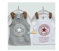 free shipping 2014 fashion Baby star letters girls and boys sumber vest children's wear t- shirt children vest tx - 0318