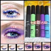 2pcs Stage Makeup Eye Mascara Smoky Lash Mascara Waterproof  Curling Thick Natural for Colorful Ink  Eyelash Makeup,1068
