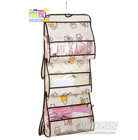FREE SHIPPING!!! Angel Bear transparent five bag bag wardrobe closet storage multilayer hanging bag I9414