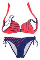 2014 New Bikini Set For Women Swimwears Striped Push Up Beachwear Two Pieces Swimsuit Set Sexy Bombshell Bra Bathing Suit