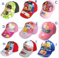 2014 New fashion summer children accessories baseball caps trucker hat fashion baby panama hats Hello kitty cartoons sun cpas