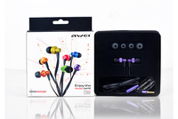Original awei 900m earphones in ear headphones stereo sound mobile phone computer earphones heatshrinked