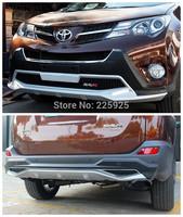 Front And Rear Bumper Sill Protector For 2013 2014 Toyota RAV4 RAV 4
