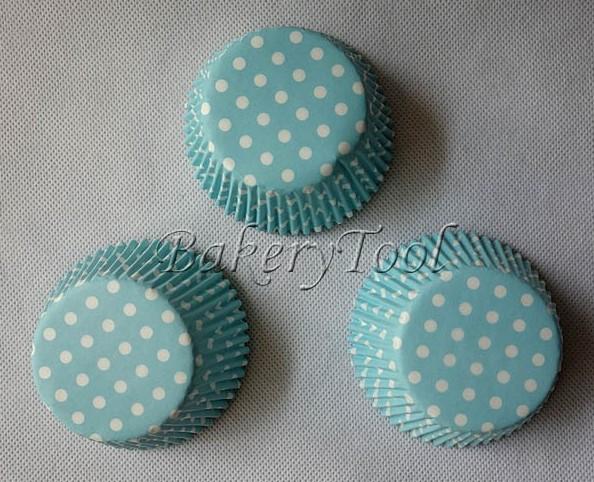200 pcs polka dots paper cupcake stand cupcake liners bakeware tools in cake mold FREE SHIPPING(China (Mainland))