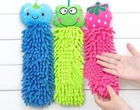 Chenille hand towel cartoon animal hanging towel fiber super absorbent cleaning towel