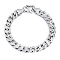 Wholesale GNS0361 Hot 2014 Fashion mens boys bracelet Genuine 925 Sterling silver jewelry 8inch silver bracelet Free shipping