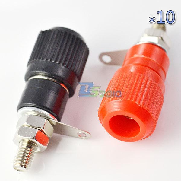 10 pairs Amplifier Terminal Binding Post Banana Plug Jack Panel mount connector(China (Mainland))