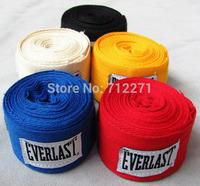 Free shipping 2pcs/roll boxing bandage width 5cm length 2.8M 100% cotton bandage strap boxing gloves
