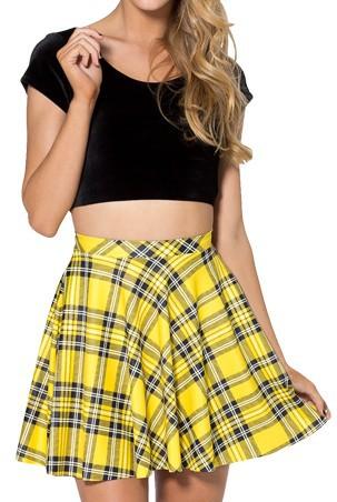Yellow Tartan Skirt Uk 35