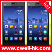 Original xiaomi mi3 m3  WCDMA Qualcomm Quad Core Mobile Phone 2GB RAM 16GB ROM 5'' 1080p 13mp Camera NFC Multiple languages
