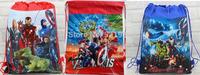 10pcs Marvel The Avengers Iron man Kids Drawstring Backpack Bags ,School / Shopping Bags, Kids Christmas Best Gift,Party Favor