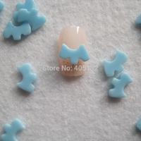 RC-178-11 200pcs/bag Cute Blue Doggie Shape Resin Decoration Nail Art Decorations