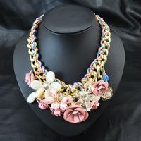 Wholesale Fashion Brand Jewelry Perfume Women Colar Flower Luxury Design Bijoux Accessories Chocker Collar Pendant Necklace